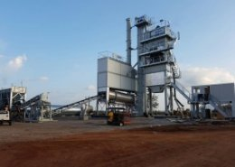 Marini asphalt plant BE TOWER 2000 P to work for the Ho City airport