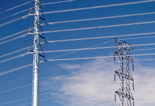 New and old electricity pylons