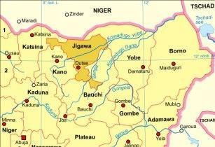 Nigeria karte politisch jigawa