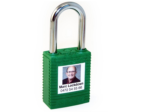 Personalised Brady padlock encourages greater protection for people