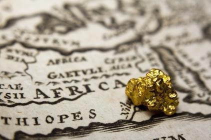 africa gold mineral Corlaffra shutstock