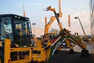 JCB's stand at bauma Africa 2013. (Image source: Ben Watts)