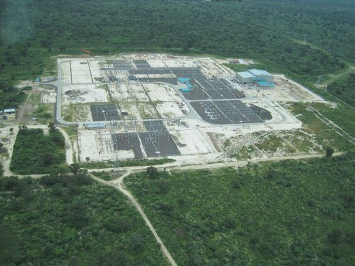Birds-eye view of the Zambezi substation of the Caprivi Link. Copyright ABB