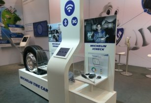 Michelin's innovation stand at Hannover 2016. (Source: Kestell Duxbury)