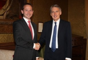 Kristian Jensen meeting Philip Hammond