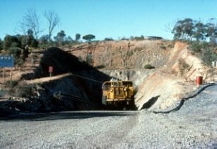 R Hill CSIRO ScienceImage 1226 Ore Truck at the Silver Swan Nickel Mine