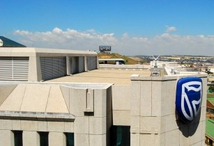 Standard Bank Headquarters logo at Johannesburg
